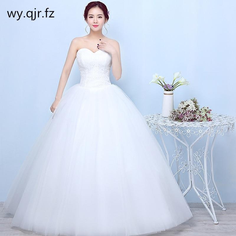 Weddings & Events Sammlung Hier Yc-x22 # Ballkleid Weiß Lace Up Liebsten Braut Der Hochzeit Kleid Backless Lange Kleid Billig Großhandel Frauen Kleidung Plus Größe Heller Glanz
