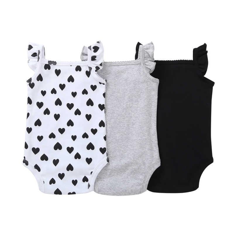 6f3dab4775a7d cute baby summer clothes set 3pcs/pack baby girl sleeveless bodysuit cotton  6-24 month infantil bebes newborn boy clothes