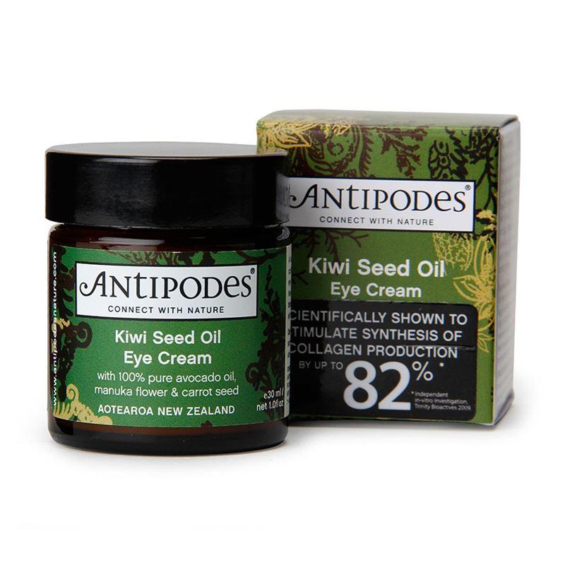 Sin perfume antípodas kiwi semilla crema anti envejecimiento hidratante tratamiento del ojo eliminar círculo oscuro aliviar líneas finas