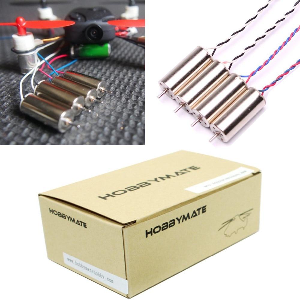 Moteurs sans noyau brossés haute performance HOBBYMATE 8520 8.5x20mm pour Hubsan X4 H107C H107D, Cadre de Quadricoptère DIY Micro FPV RC
