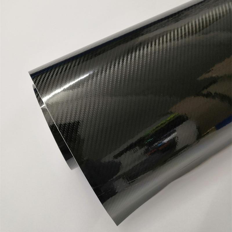 20cmx10 0/200 .. 500cm estilo do carro brilhante preto 5d fibra de carbono filme de vinil envoltório com bolha livre de ar diy carro tuning parte adesivo