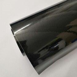 20cmx100/200..500cm Car Styling Glossy Black 5D Carbon Fiber Vinyl film Wrap With Air Free Bubble DIY Car Tuning Part Sticker