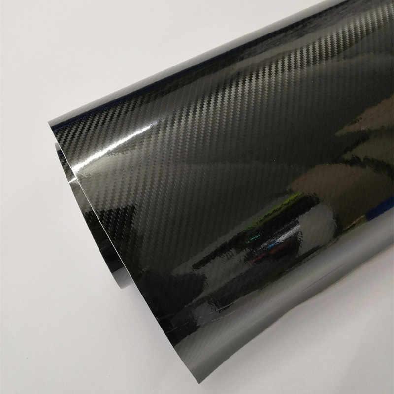 50cm * 1m/2m/3m/4m/5m 5D Carbon Faser auto Körper Film Glänzend Schwarz Auto Vinyl Wrap Styling Verpackung Papier für Auto Motor Bike Laptop