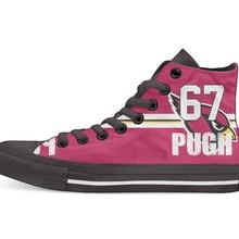 Аризона Кардиналс футбольный плеер пью Высокая парусиновая обувь для хип-хопа пользовательские прогулочная обувь