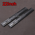 "1Pair=2PCS High Quality 22"" 3-fold Steel Ball Bearing Telescopic Cabinet Drawer Runners Slide Rails Furniture Accessories E191-7"