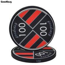 25 шт./лот 10 г 39x3 мм Техасские керамические наборы фишек для покера анти-поддельные монеты Монте-Карло черный Джек фишки для казино цена