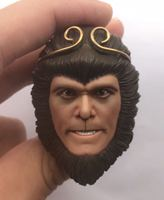 Custom Angry version Sun Wukong Head Sculpt 1/6 Scale Stephen Chow Head for Phicen JIAOUL Body Model Action figure Toys
