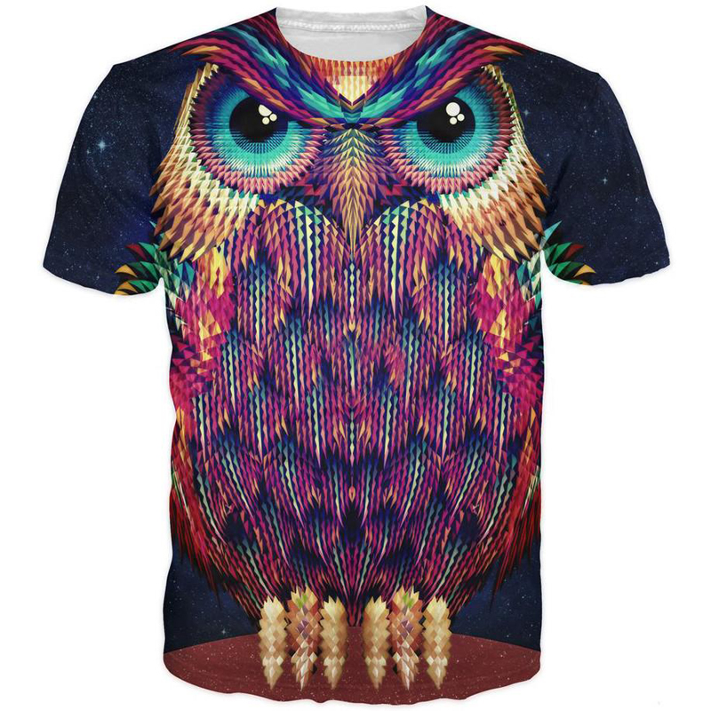 ONSEME Cool Animal 3D T Shirt Vintage Skull/Wolf/Eagle Prints T Shirts Men Women Hip Hop Tops Tees Harajuku Tee Shirt Drop Ship