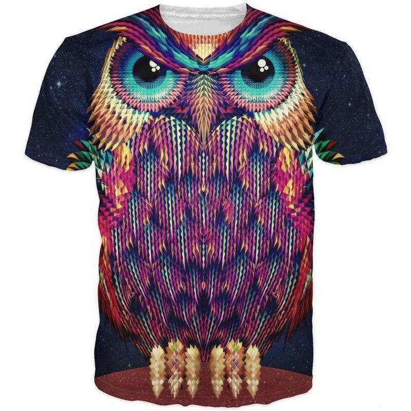 ONSEME Freddo Animale 3D T Shirt Vintage Del Cranio/Lupo/Aquila Stampa T Camicette Delle Donne Degli Uomini di Hip Hop Magliette e camicette magliette Harajuku Tee Shirt Nave di Goccia