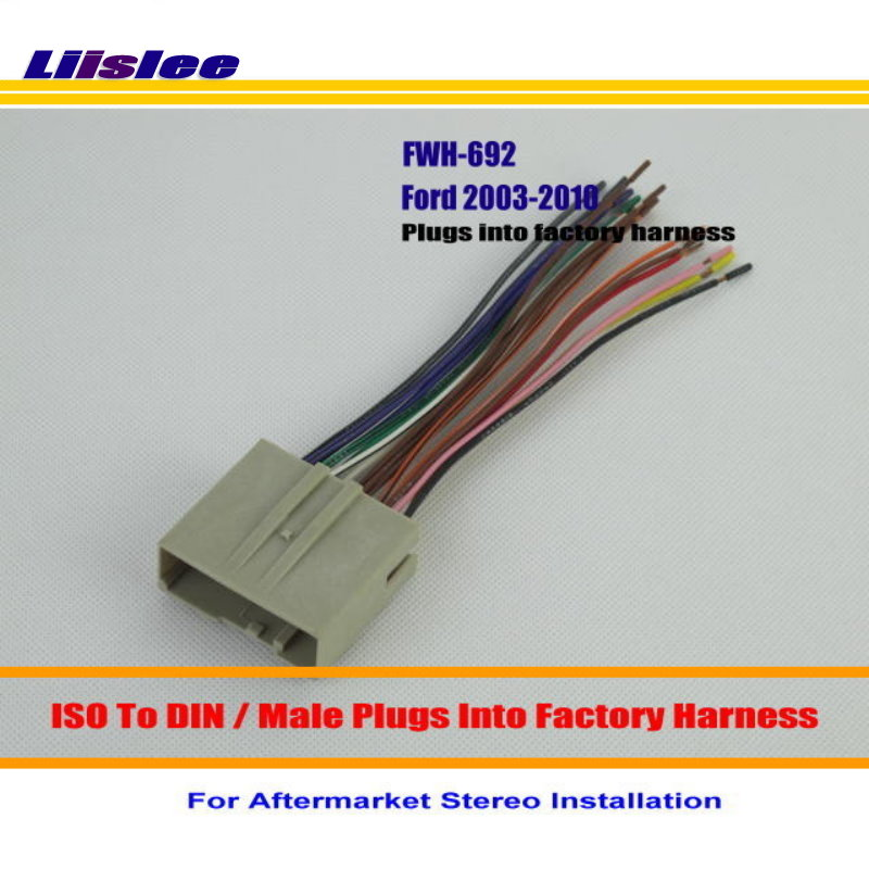 liislee for ford freestyle mustang taurus thunderbird male iso radio 2003 ford taurus engine wiring harness liislee for ford freestyle mustang taurus thunderbird male iso radio wire cable wiring harness car stereo adapter connector