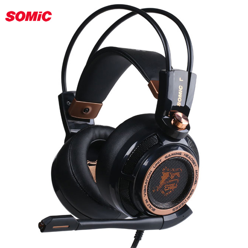 Somic Upgrade G941 Active Noise Cancelling 7.1 Virtual Surround Sound USB Gaming Headset with Mic Vibrating for PC Laptop-in Phone Earphones & Headphones from Consumer Electronics