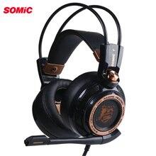 Somic Upgrade G941 активный шумоподавление 7,1 виртуальный объемный звук USB игровая гарнитура с микрофоном Вибрационный для ПК ноутбука
