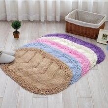 Мягкая шенилловая кожа 40x60 см Нескользящие Коврики для ванной комнаты коврик для спальни Toliet коврики набор водопоглощающий ковер 5 цветов