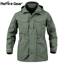 Refire gear US Army камуфляжная военная куртка мужская водонепроницаемая тактическая Полевая куртка с капюшоном осень много карманов ветровка пальто