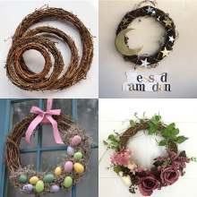 Noel Christmas Natural Dry Branches Rattan Wreath Decorations for home Garland Navidad Wedding Decoration kerst