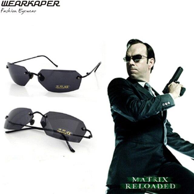 2a283175bb 2017 New Rimless Classic Oval glasses Matrix Morpheus Sunglasses Matrix  Sunglasses Movie sunglasses Men UV400 oculos de sol