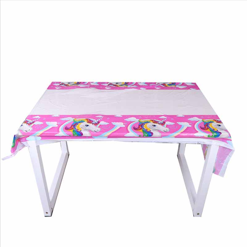 1pcs/lot Unicorn tablecloths kids birthday party supplies table cover birthday party supplies Unicorn party tablecloths