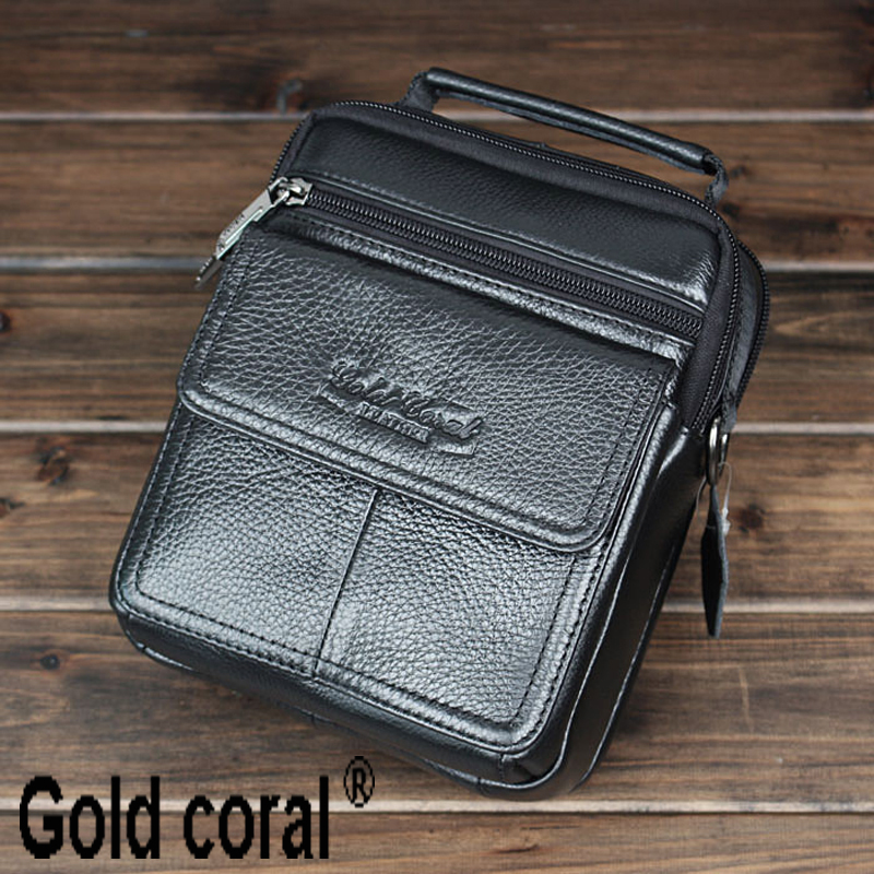 ФОТО Hot selling genuine leather business male handbags casual men messenger bags with high quality man shoulder bag