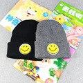 Autumn/Winter Fashion Women Wool Warm Hats Cute Emoji Smile Face Design Knitting Hat for Men Hip Hop Caps Casual Cartoon Beanies