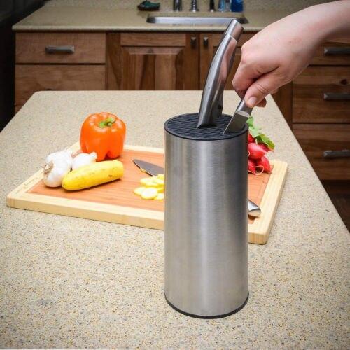 Pişirme Blok Aracı Çok Fonksiyonlu Bıçak Tutucu Paslanmaz Çelik mutfak rafı