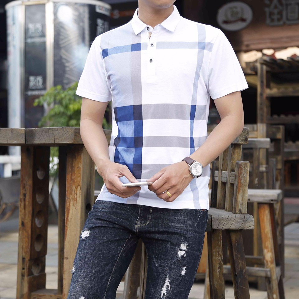 Polo   Men Mens Shirt Brands Direct Selling 2019 Summer Short Sleeve Cool Breathable Cotton Business Luxury Brand M-3xl Solid