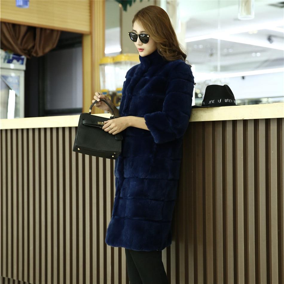 Lapin Long Cm Rayé La Taille Bleu Noir Fourrure Manteau Outwear Pelucheux Veste Rex Luxus Gris Manteaux Plus noir Rouge 95 De xAqSw55X