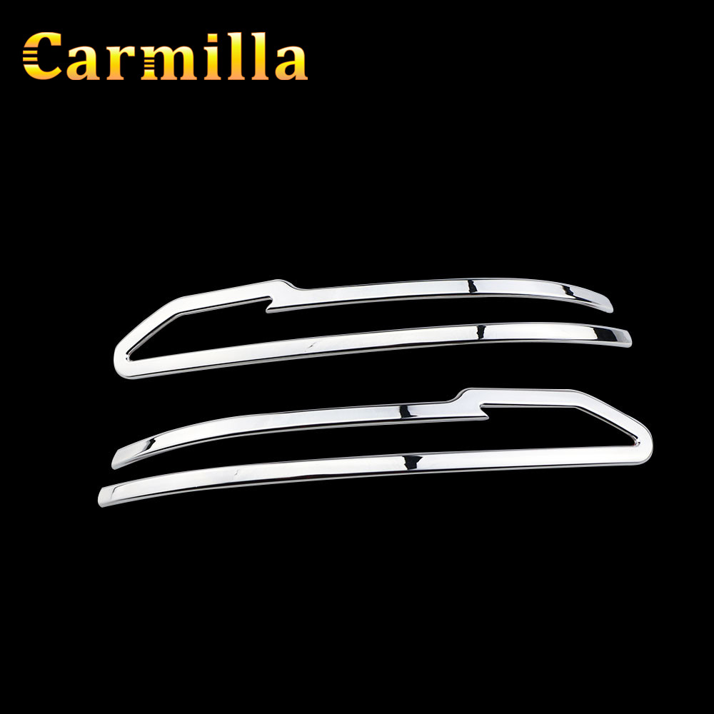 Carmilla Chrome Rearview Mirror Decoration Trim Cover Rear View Mirror Sticker for Nissan Qashqai J11 2014 - 2017 Car Styling car rear trunk security shield shade cargo cover for nissan qashqai 2008 2009 2010 2011 2012 2013 black beige