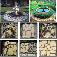 50 50cm 5pcs Lot Pathmate Stone Mold Artificial Stone Molds Culture Stone Mold Paving Stone Mould
