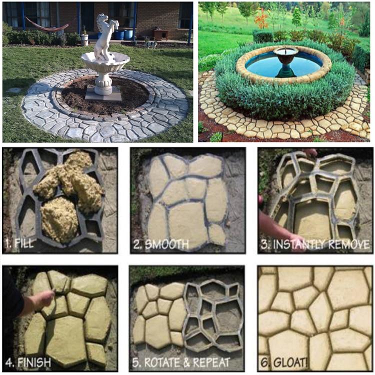 50 50cm 5pcs lot pathmate stone mold artificial path molds culture stone mold Paving stone mould diy stone pavement mold