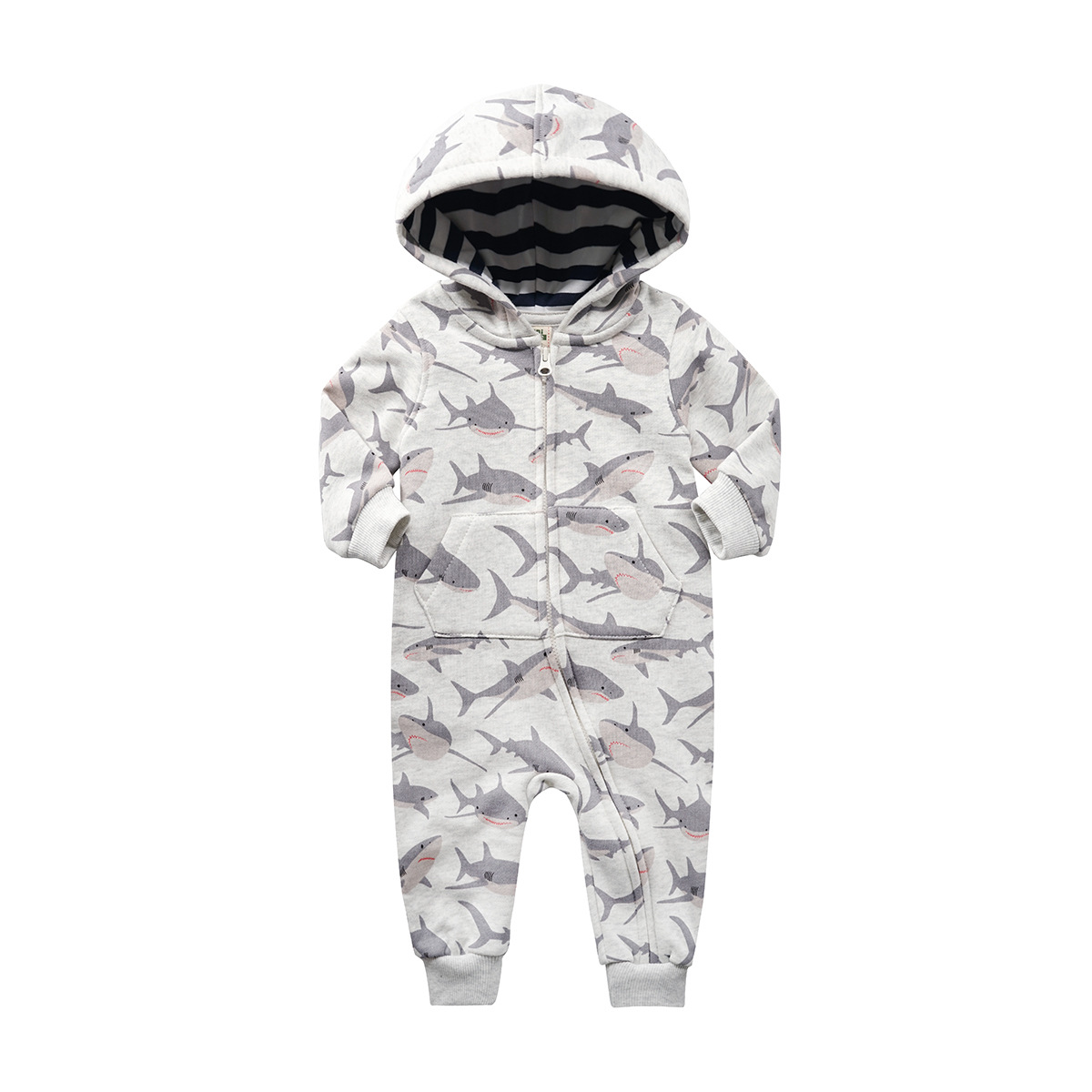 2019 orangemom official store baby boy clothing grey infant baby clothing cotton hoodies jumpsuit children   rompers   for babies