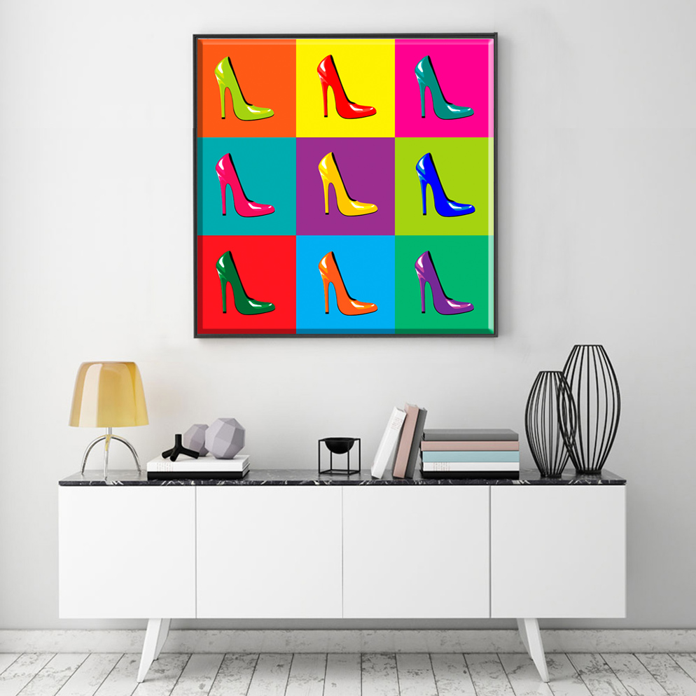 popular posters pop art buy cheap posters pop art lots from china pop art poster shoes colorful canvas art canvas painting oil painting wall pictures on the wall