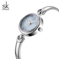 SK 6 MM Thin Bracelet Quartz Watch For Ladies Elegant 3ATM Waterproof Women Wristwatches Top Brand