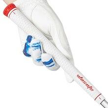 Yüksek kaliteli golf kulübü kavrama beyaz ultra hafif kauçuk sapları golf ütüler ahşap kavrama