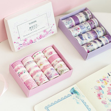 1box Kawaii Stationery Washi Paper Color Printing Traveler Notebook Decoration Cute Stickers