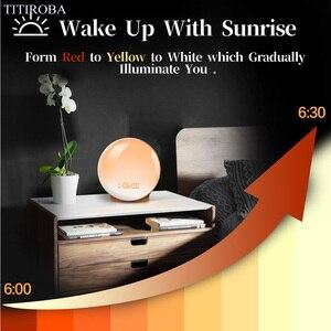 Image 3 - TITIROBA Digital Snooze Function Alarm Clock New Wake up light Clock Sunrise Sunset Light FM Function Alarm Clock for Daily Life