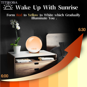 Image 3 - TITIROBA דיגיטלי פונקציה נודניק שעון מעורר חדש להתעורר אור שעון שקיעת זריחת אור FM פונקצית שעון מעורר עבור יומי חיים