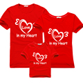 family matching outfits 2017 new summer t-shirt mother daughter dresses mum dad baby cotton family clothing baby clothes heart