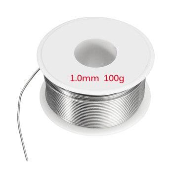 0.8/1/1.2mm 50g 100g Soldering Iron Solder Solder Wire 50g Soldering 63/37 Tin Lead Flux for Welder Iron Wire Reel
