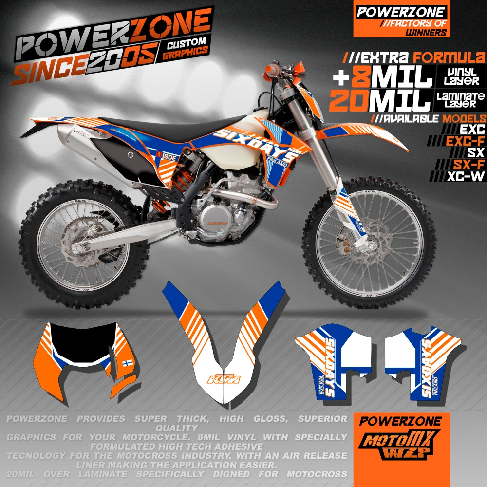 Custom Team Graphics & Backgrounds Decals 3M SixDays Stickers Kit For KTM SX SXF EXC125 250 450 500 2011-2017 Free Shipping  0322 star new team graphics with matching backgrounds fit for ktm sx sxf 125 150 200 250 350 450 500 2011 2012