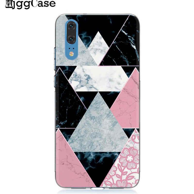 Patrón de mármol teléfono caso Funda Huawei P10 P20 P30 Mate 10 20 Lite Pro caso Honor 9 10 Lite 8X 8C Y9 2019 de lujo de la contraportada