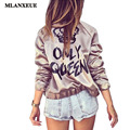 2016 Feminina Autumn Style Tops Women Long-sleeved Slim Jacket Fashion Wild Jacket Tops Womens Casual Letters printed Coat