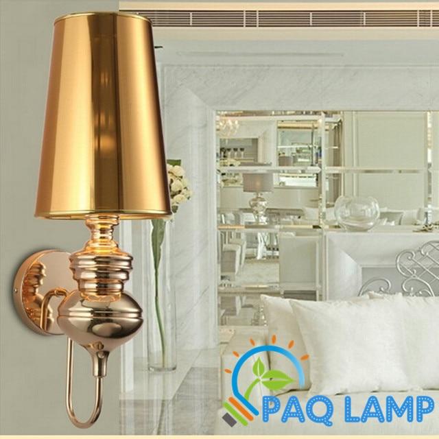Luci moderne lampada da parete oro argento nero colore bianco sala ...