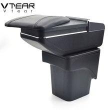 Vtear для Ford Focus 2 подлокотник коробка центральный магазин mk2 содержание коробка товары продукты интерьер подлокотник хранение автомобиля-Стайлинг Аксессуары запчасти