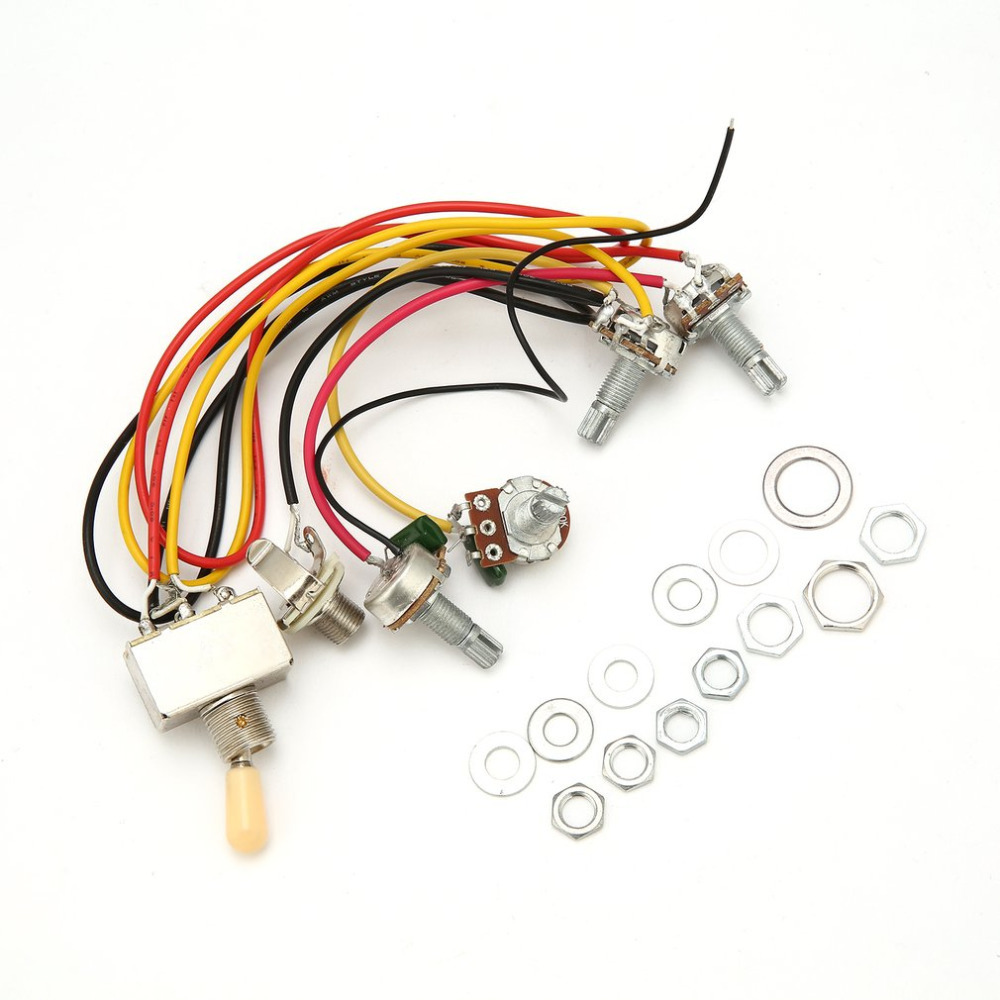 Hot Sale 1 Full Set Lp Sg Electric Guitar Pickup Wiring Harness A Potentiometers Kit Replacement 3 Way Toggle Switch Accessories New