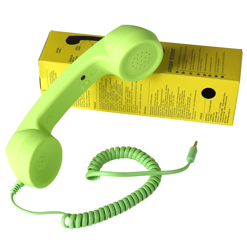 Classic Comfort Retro Phone Handset Speaker Phone Call Mic Receiver For iPhone Android Phones 7 Colors 3.5mm 2018 new retro telephone 3 5mm comfort mini mic speaker telephone handset radiation proof phone call receiver for iphone samsung