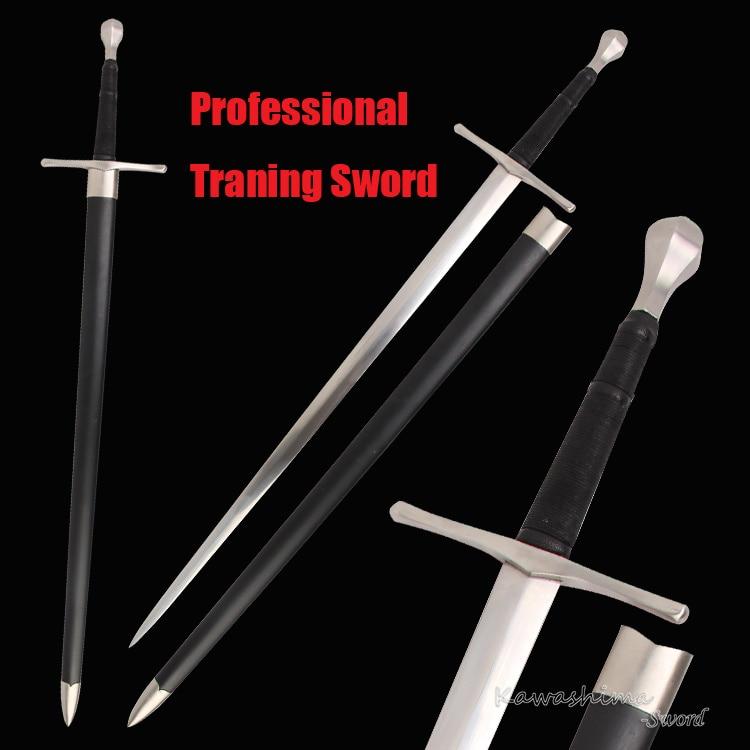 Viking Sword Battle Ready Spring Steel Full Tang Blade European Medieval Swords Wooden Scabbard Stainless Guard