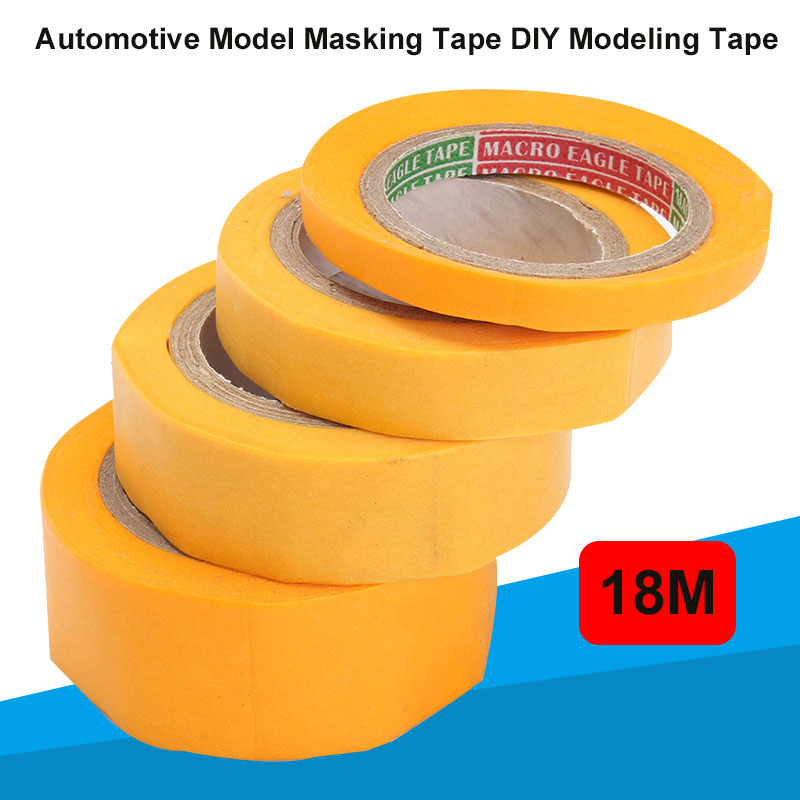 DIY Modeling Tools Car Paint Tool Masking Tape Washi Paper Yellow Roll  Modeler Car Coloring DIY Multifunctional Tape