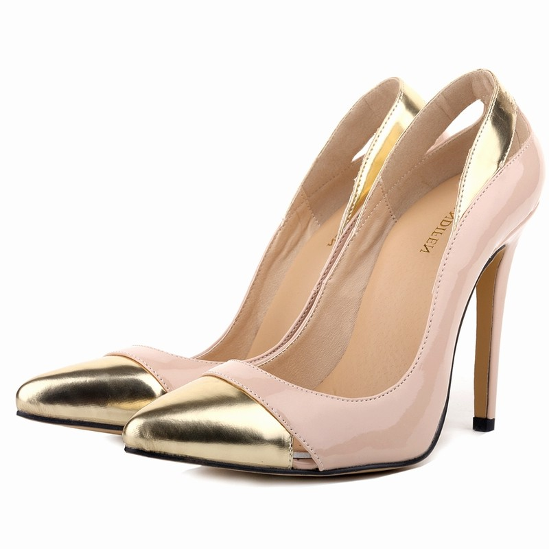 Loslandifen spring summer women high heels shoes woman pointed toe pumps party wedding patchwork leather girl's ladies shoes 2017 new spring summer shoes for women high heeled wedding pointed toe fashion women s pumps ladies zapatos mujer high heels 9cm