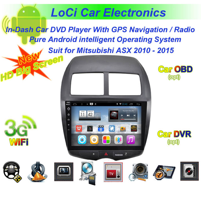 HD BIg screen! Car Multimedia stereo Audio dvd android player for Mitsubishi ASX 2010 2015,gps
