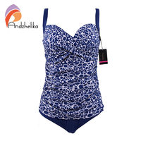 Andzhelika One Piece Swimsuit 2017 New Women Plus Size Bodysuit Sexy Hollow Out Swimwear Large Cup